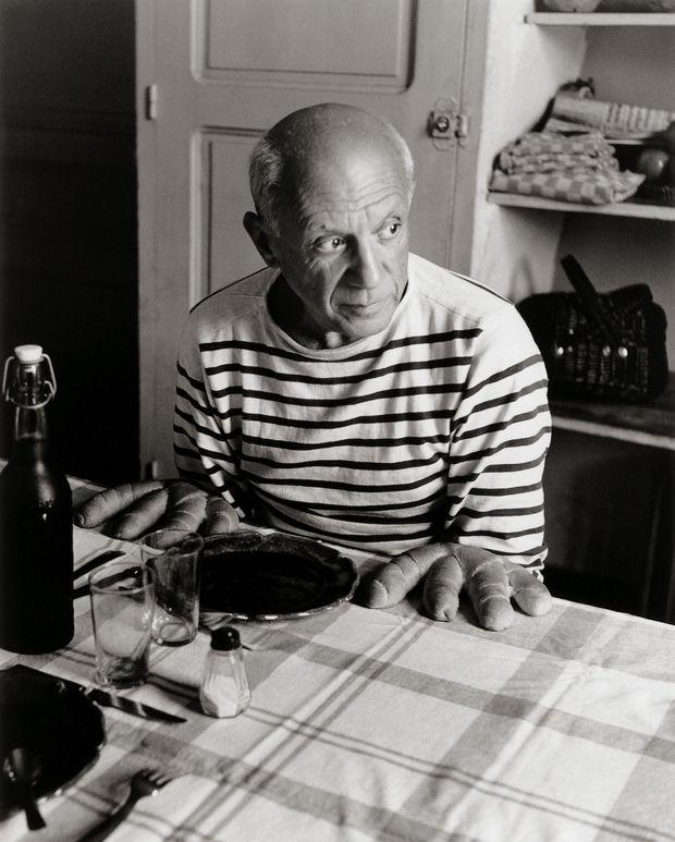 Robert Doisneau- Les pains de Picasso- Vallauris- 1952, Robert Doisneau