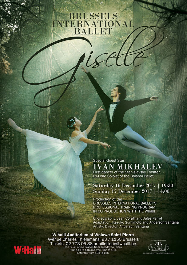 Gagnez 5 x 2 tickets pour le spectacle Giselle par le Brussels International Ballet
