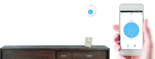 Le thermostat s'adapte à la plupart des intérieurs modernes. , Eni