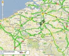 Les infos trafic disponibles sur Google Maps