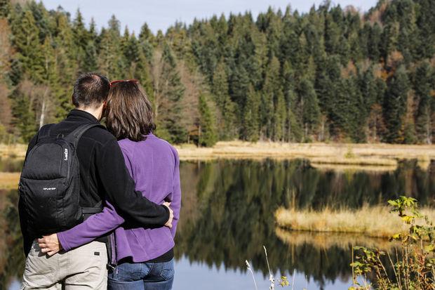 Une ambiance romantique- lacs des Vosges., Gilles Pecqueur
