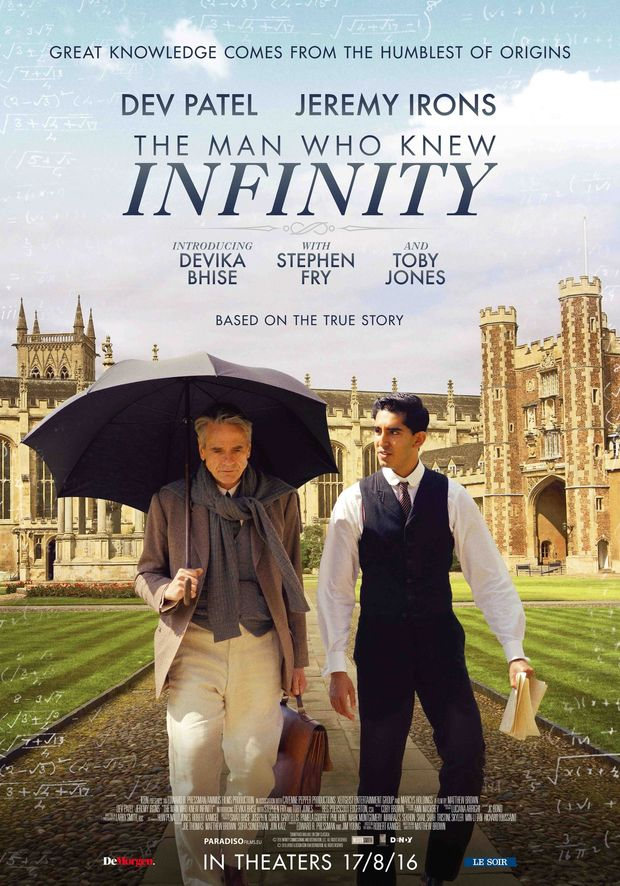 Tentez votre chance de remporter 20 x 2 tickets du film ''The Man Who Knew Infinity''