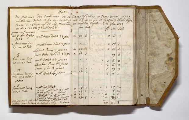 Archives de l'État de Liège. Famille de Lannoy Clervaux : inventaire des meubles et de l'équipement du château de Neuville-en-Condroz, XIXe siècle.