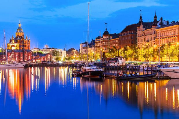 La vieille ville à Helsinki, Finlande